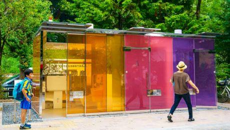 Este adevărat că în Japonia există toalete publice transparente? Cum se folosesc?