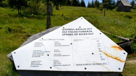Cum arată locul de unde izvorăște râul Olt?