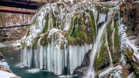 Cum arată Cascada Bigăr iarna? Unde se află aceasta?