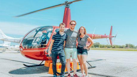 Cât costă un zbor cu elicopterul? Ce poți vedea de sus?