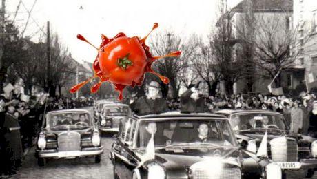 Cum a reacționat Ceaușescu când peste 1.000 de români au aruncat cu roșii și ouă în mașina sa?